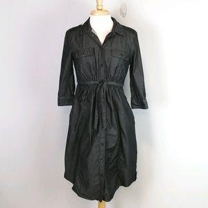 Gap Maternity Chambray Button Up Dress Size S